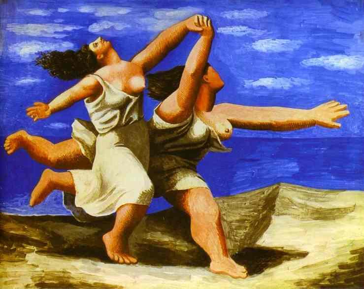 To kvinner som løper på stranda - Pablo Picasso